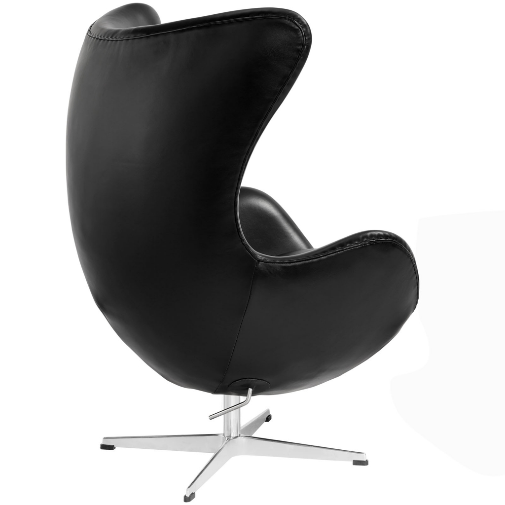 Magnum Black Leather Accent Chair 3