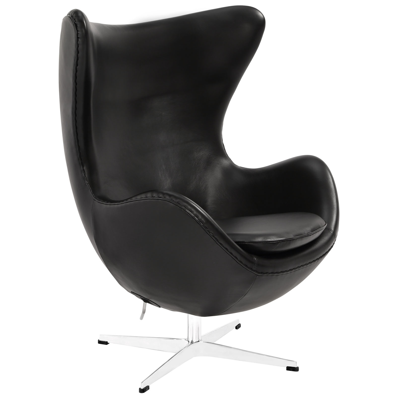 Magnum Black Leather Accent Chair