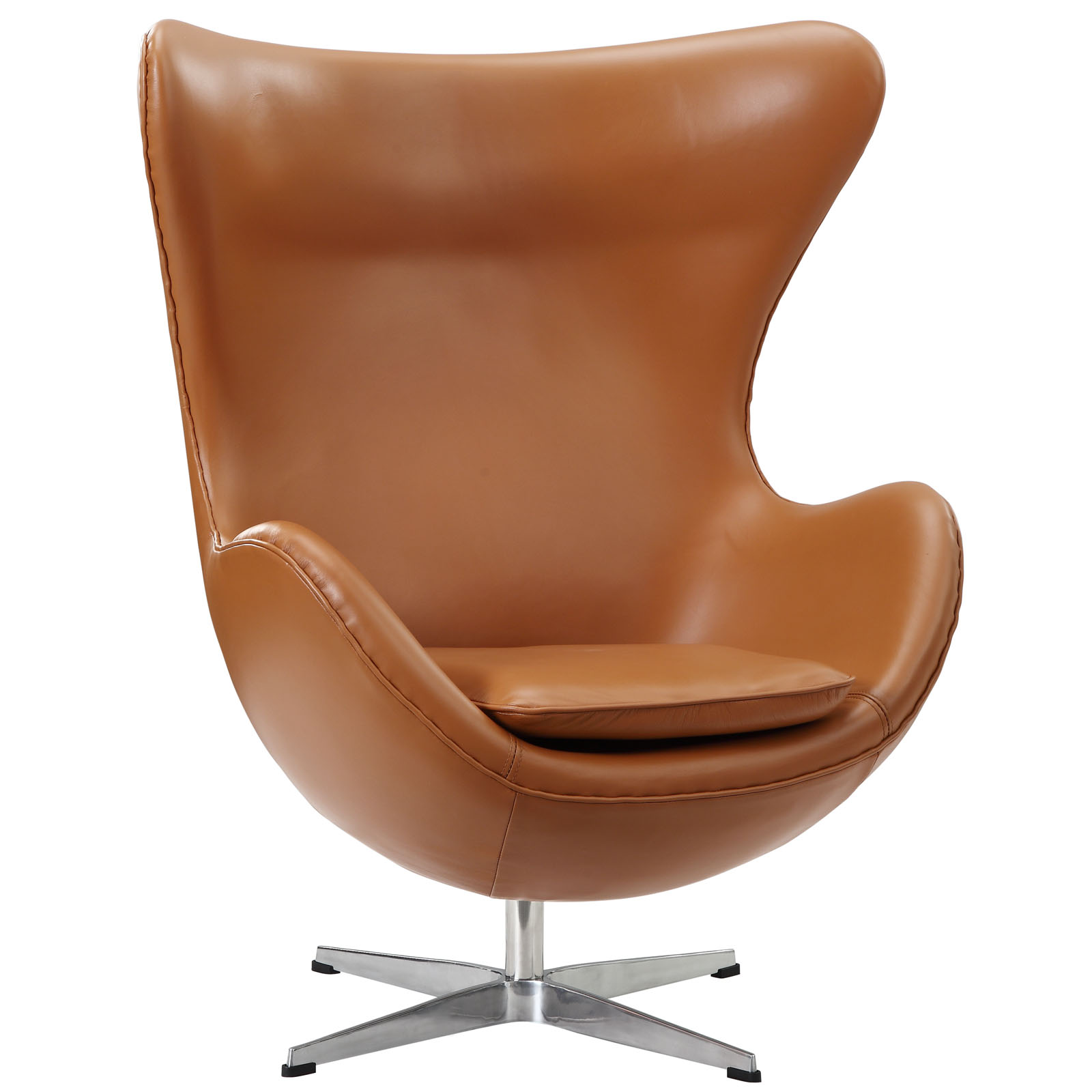 Egg Chair Cognac.Magnum Leather Chair Modern Furniture Brickell Collection