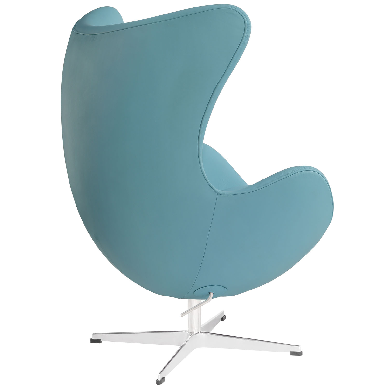 Magnum Light Blue Leather Accent Chair 3