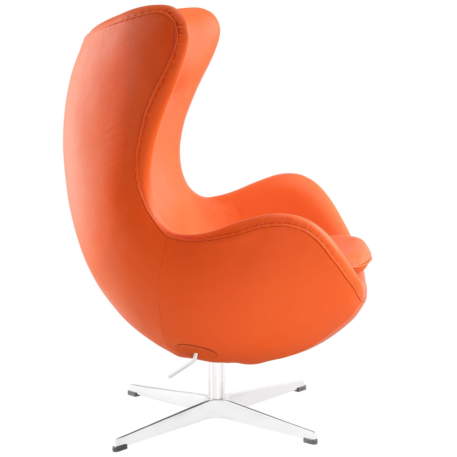 Magnum Orange Leather Accent Chair 2