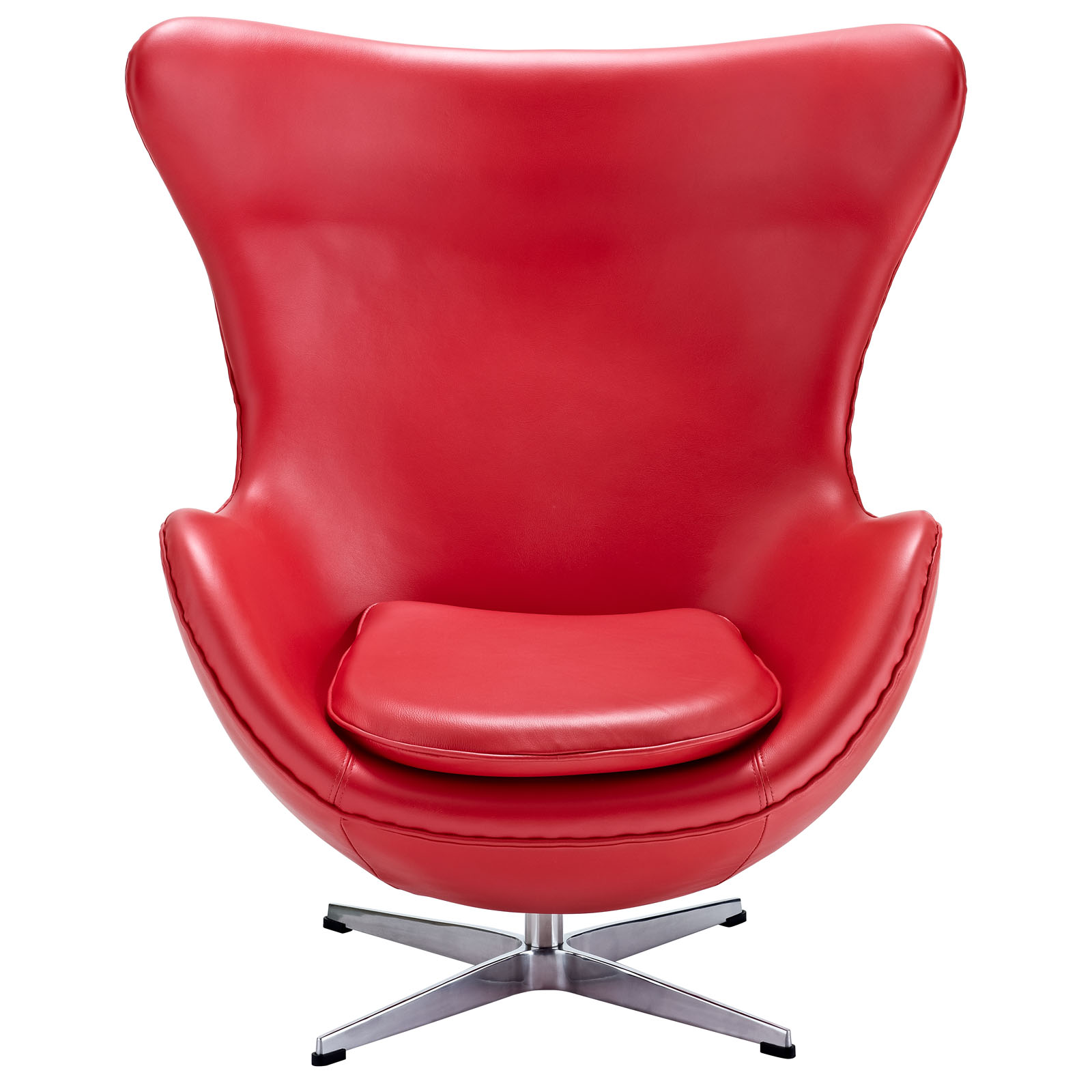 Magnum Red Leather Accent Chair