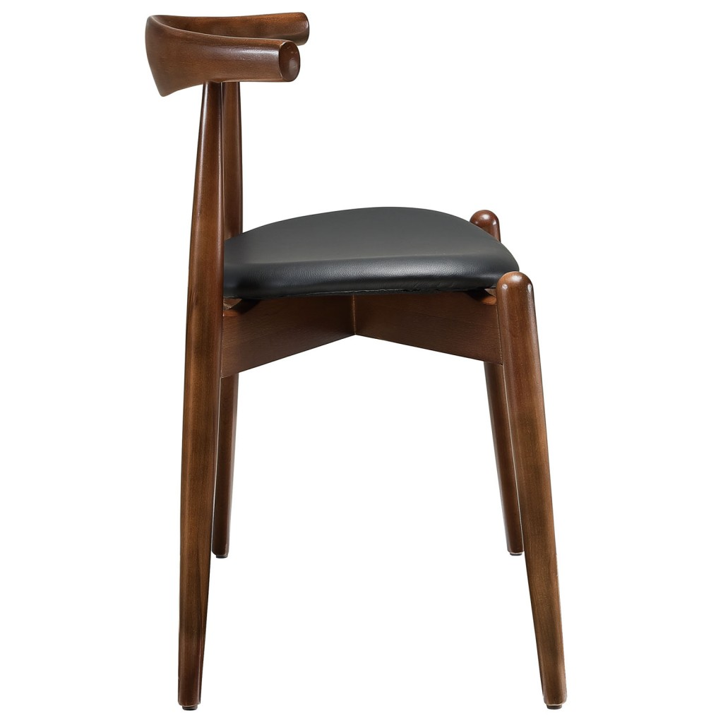 Marfa Chair Walnut Wood Black