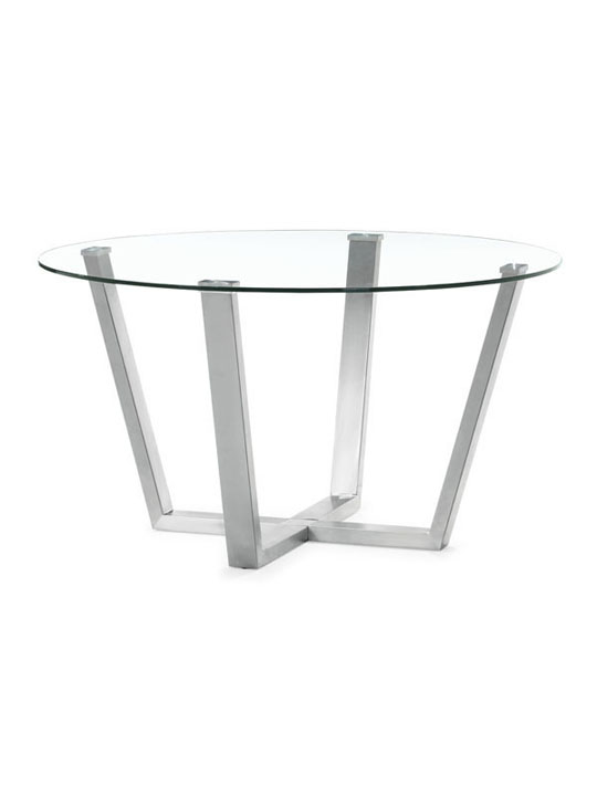 Minimal Round Glass Dining Table 1