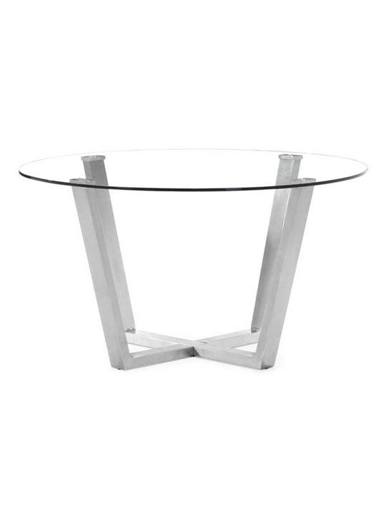 Minimal Round Glass Dining Table 3
