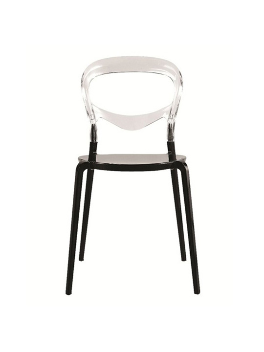 Opaque Chair black clear