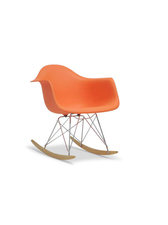 Orange Dock Rocker Rocking Chair