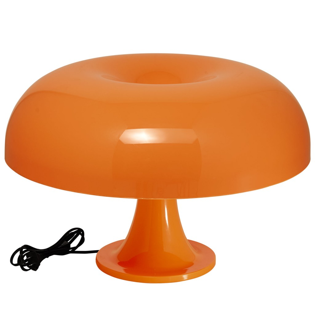 Orange Dome Table Lamp
