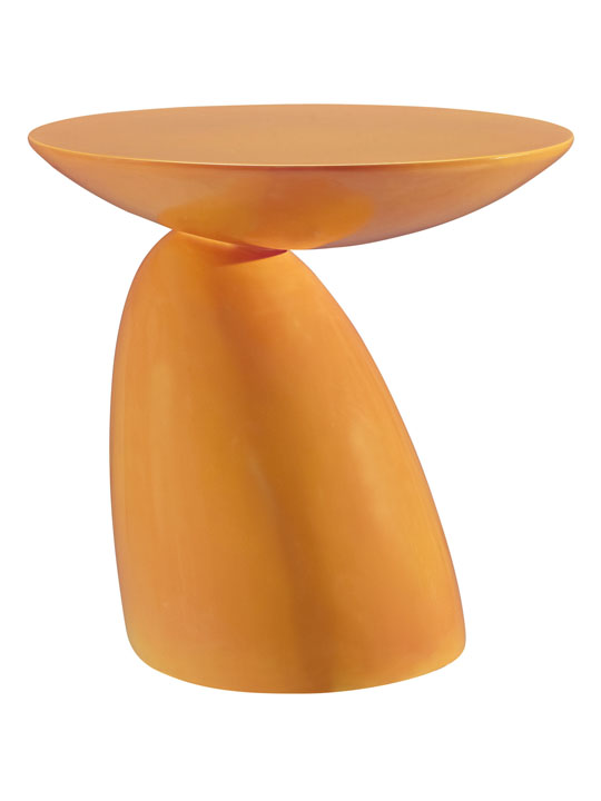 Orange Pebble Side Table 2