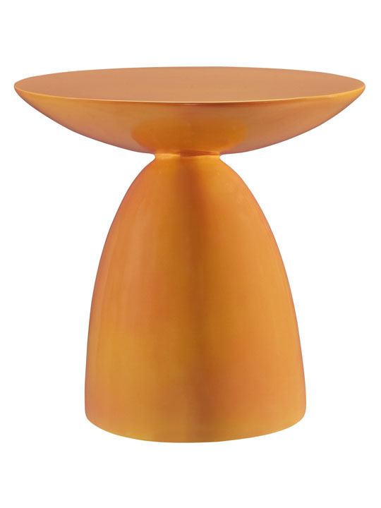 Orange Pebble Side Table