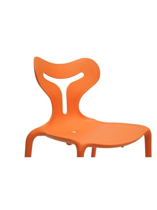 Orange Plastic Y Chair