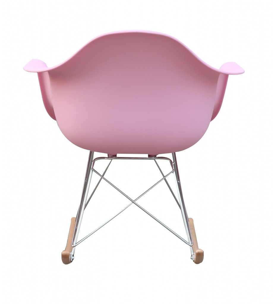 Pink Mid Century Rocking Chait Dock Rocker