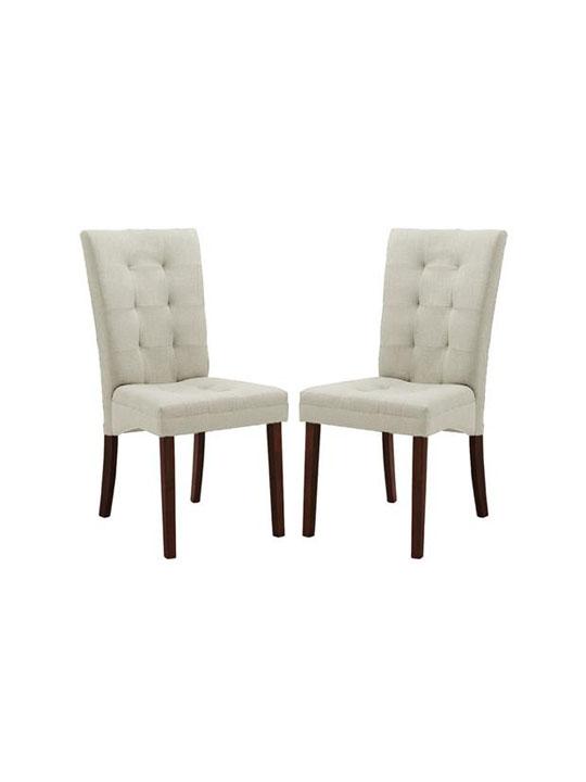 Quinn Beige Fabric Dining Chair