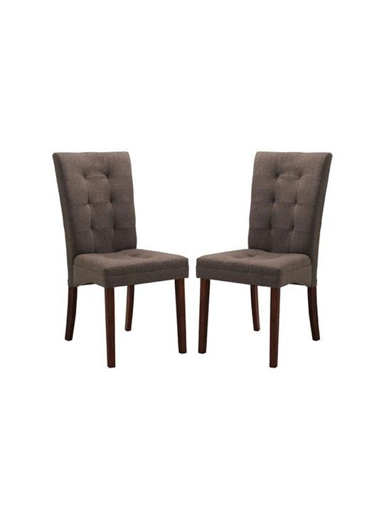 Quinn Brown Fabric Dining Chair