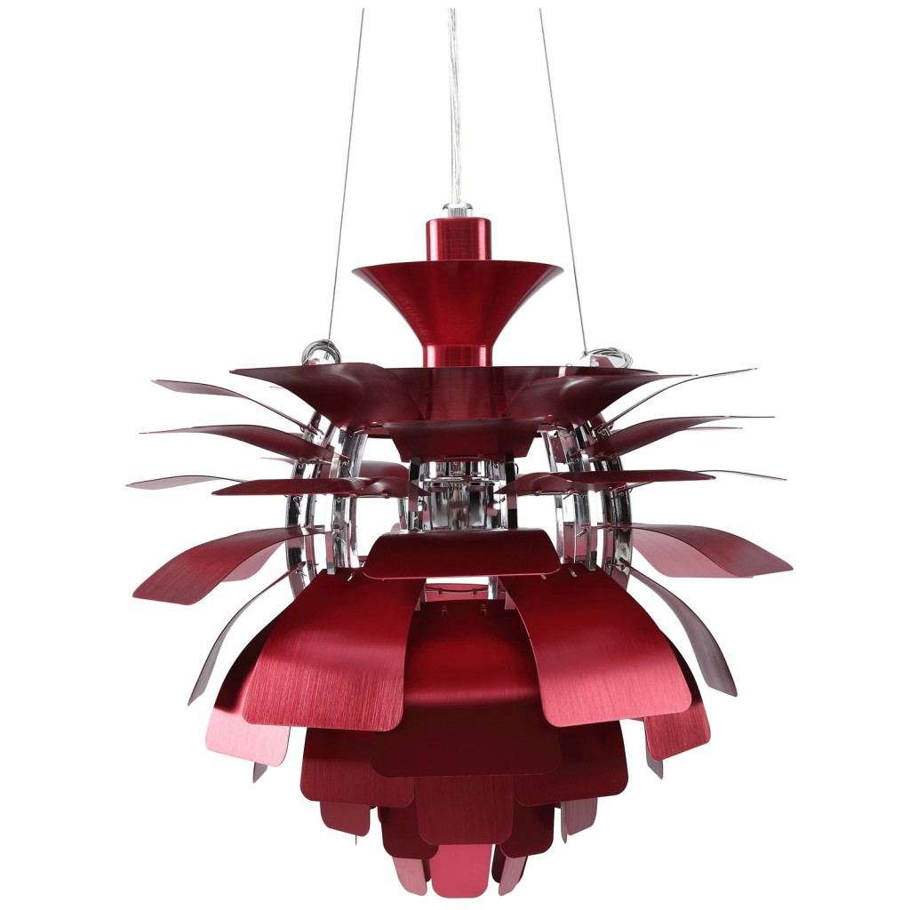 Red Icon Chandelier Detail 2