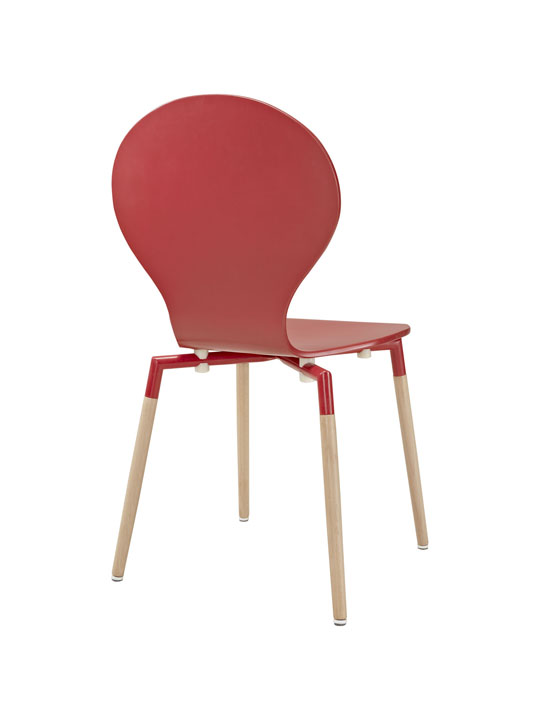 Red Ombre Wood Chair 3