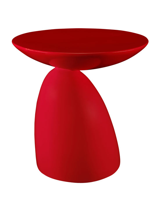 Red Pebble Side Table 2