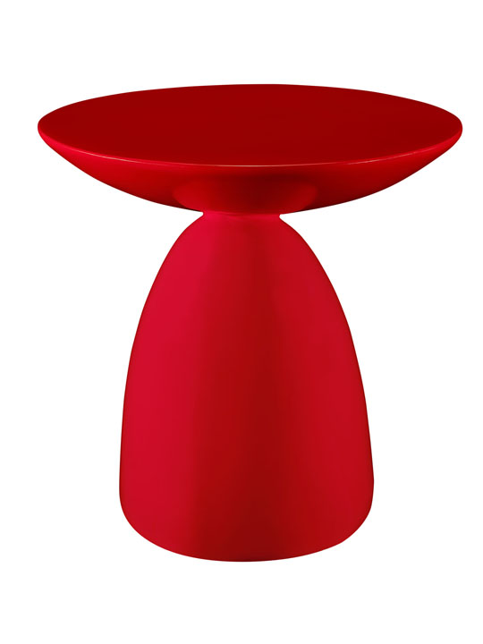 Red Pebble Side Table