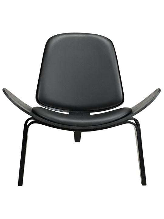 SLS Chair Black Wood Black Cushion 1