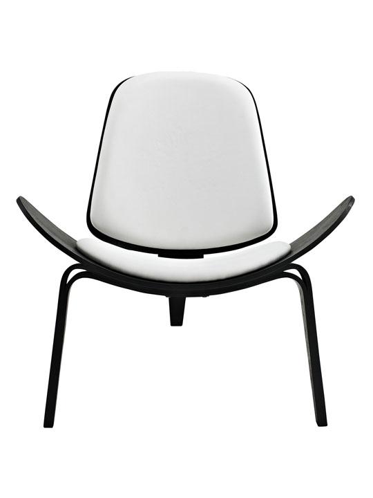 SLS Chair Black Wood White Cushion 2