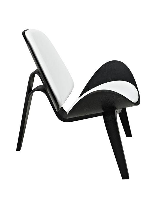 SLS Chair Black Wood White Cushion 3