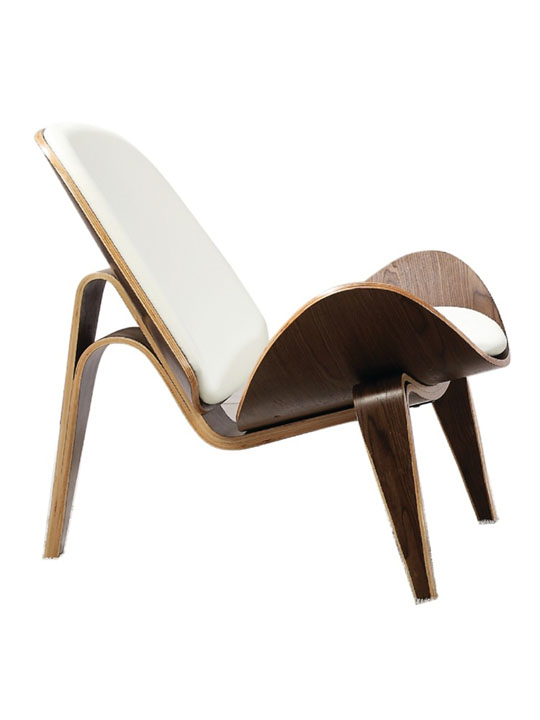 SLS Chair White Leather