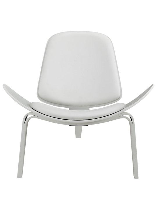SLS Chair White Wood White Cushion 2