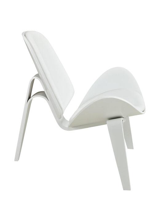 SLS Chair White Wood White Cushion 3
