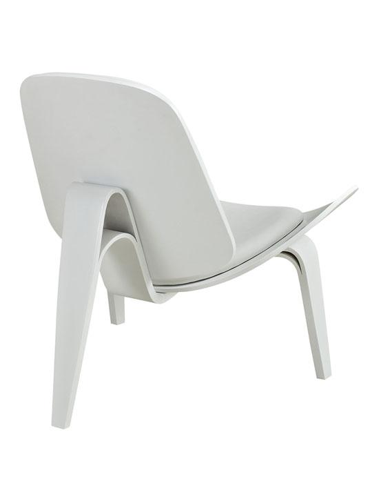 SLS Chair White Wood White Cushion 4