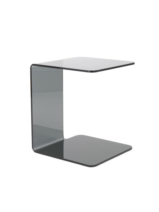 SeeThru Side Table Smoke Glass2