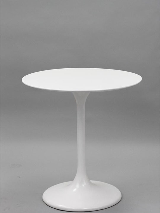 White Tulip End Table Brickell Collection Furniture