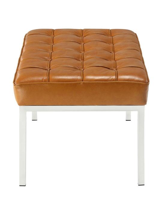 Tan Leather Gallery Bench Medium 3