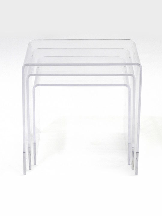Three Ice Accent Tables