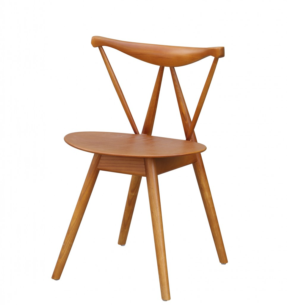 Triangle Chair Walnut Wood 2