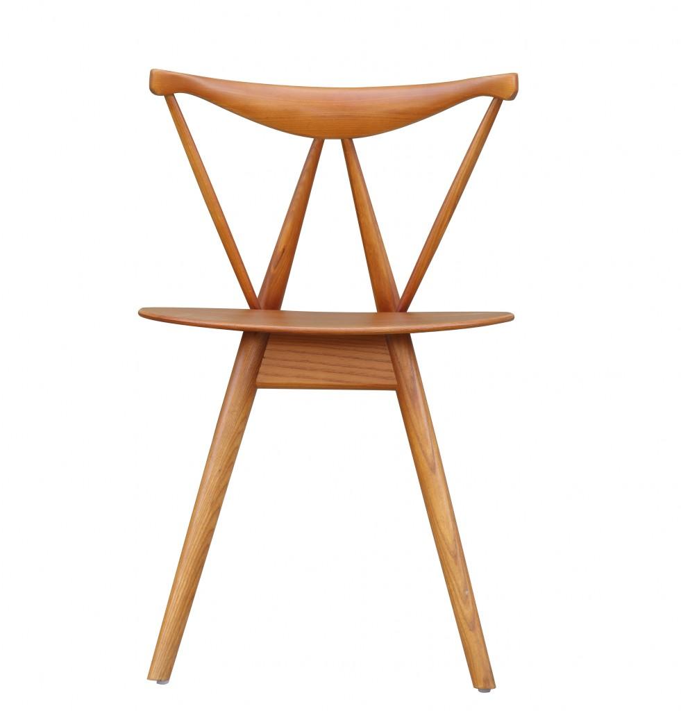 Triangle Chair Walnut Wood 3