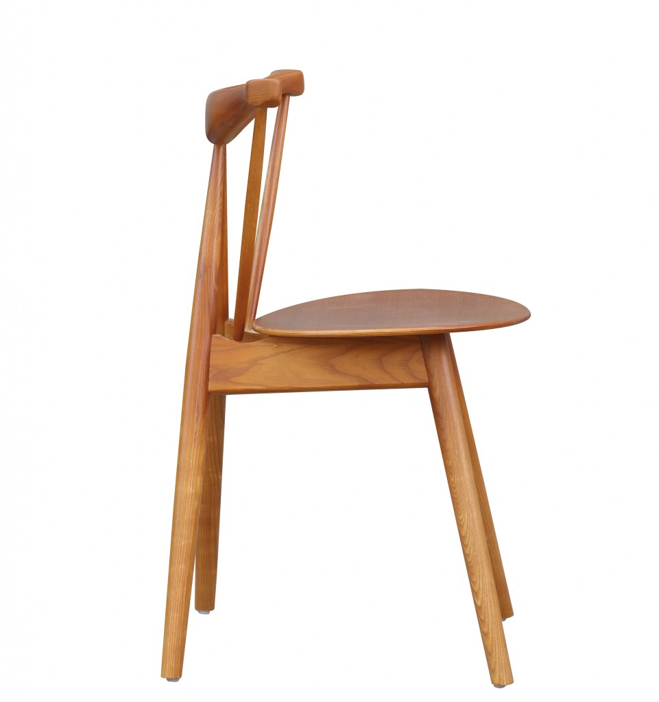 Triangle Chair Walnut Wood 4