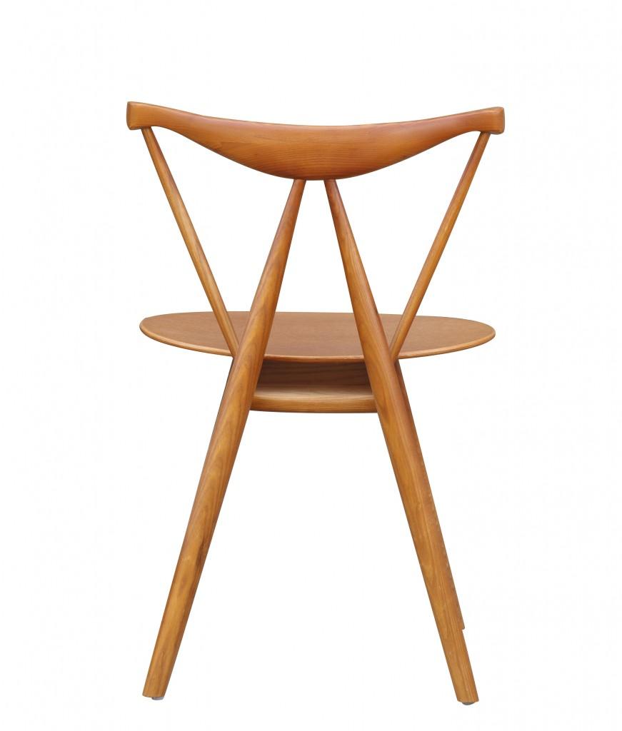 Triangle Chair Walnut Wood 5