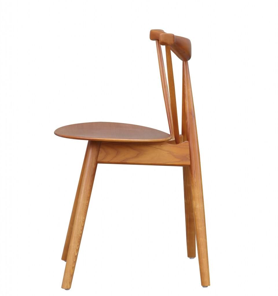Triangle Chair Walnut Wood 6