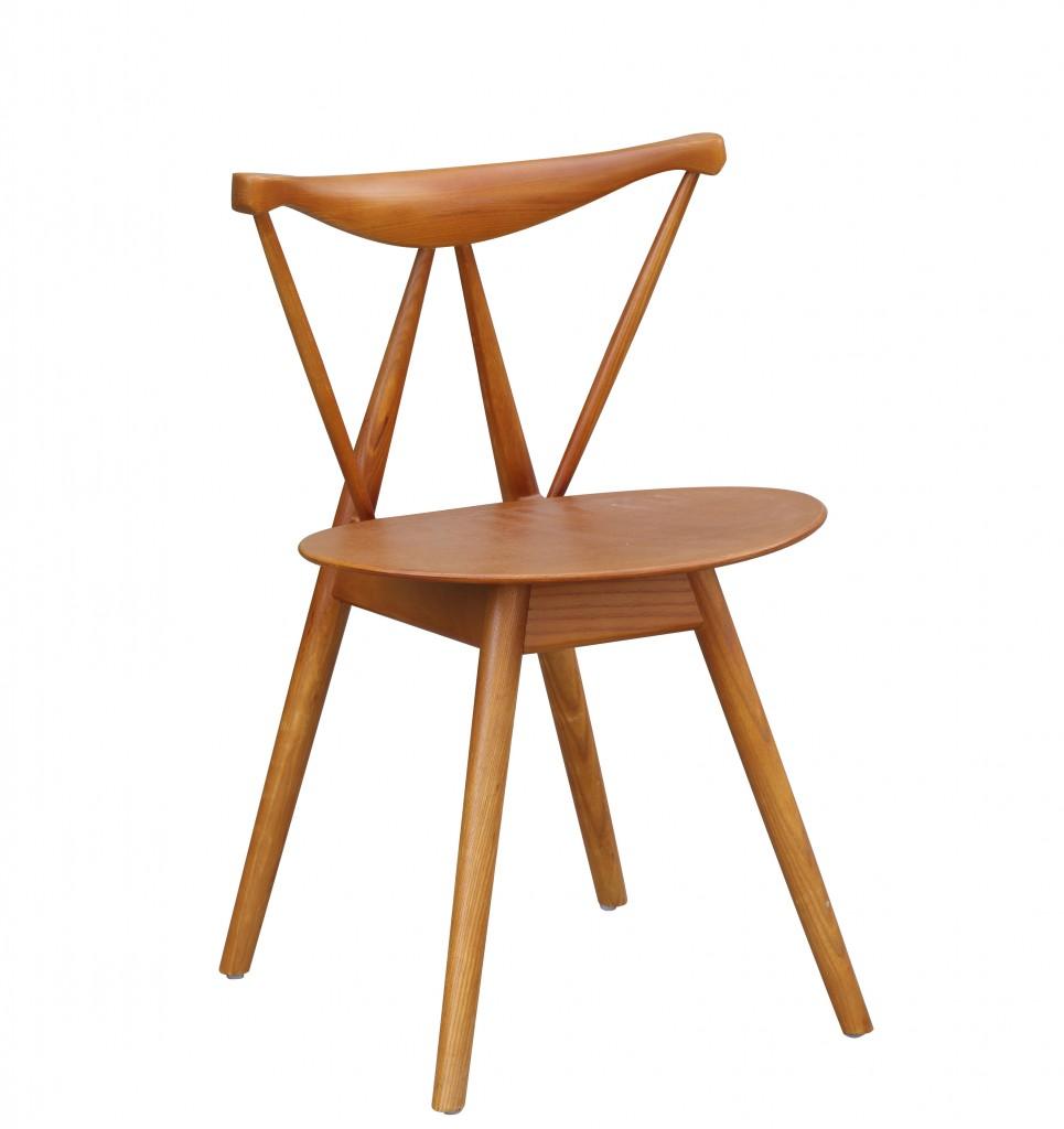 Triangle Chair Walnut Wood