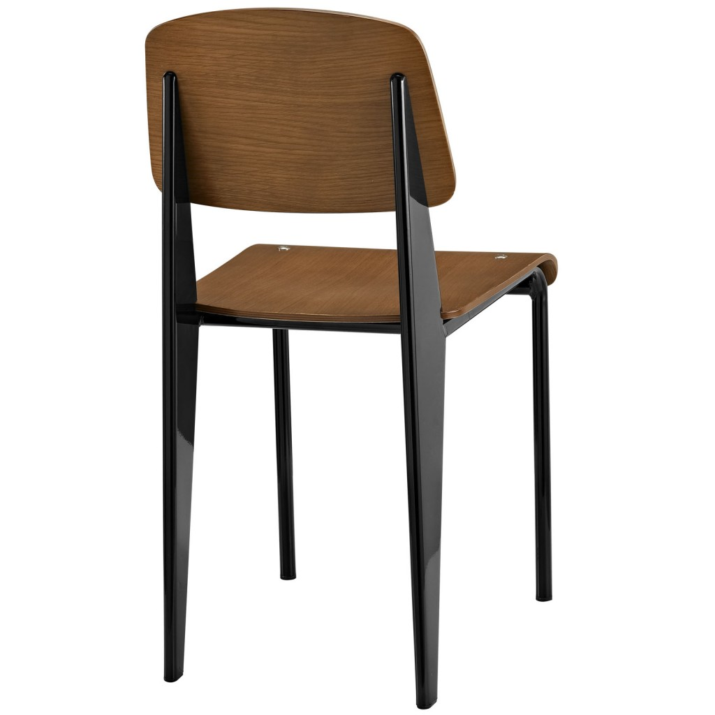 Walnut Wood Black Standard Chair