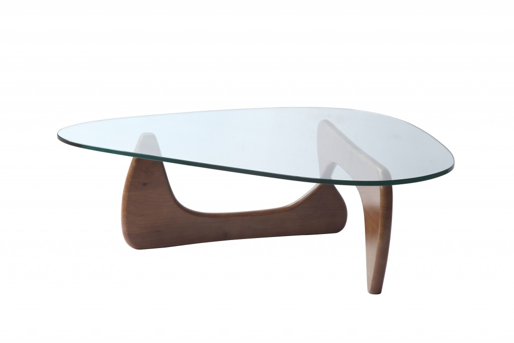 Walnut Wood Triangle Coffee Table 2
