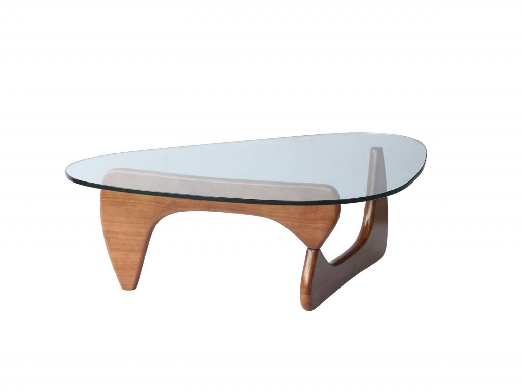 Walnut Wood Triangle Coffee Table 3