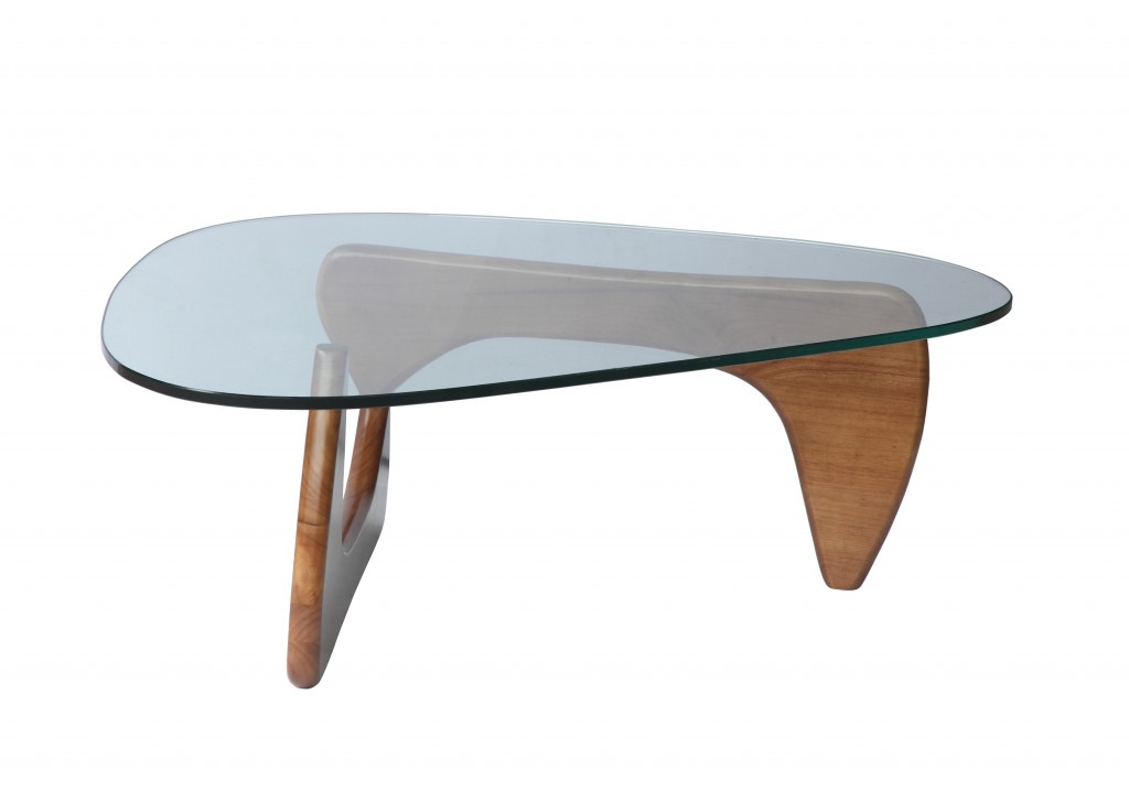 Walnut Wood Triangle Coffee Table 4