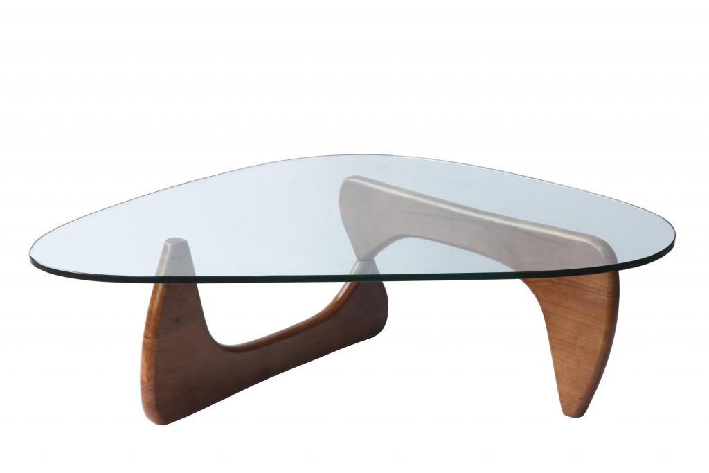Walnut Wood Triangle Coffee Table