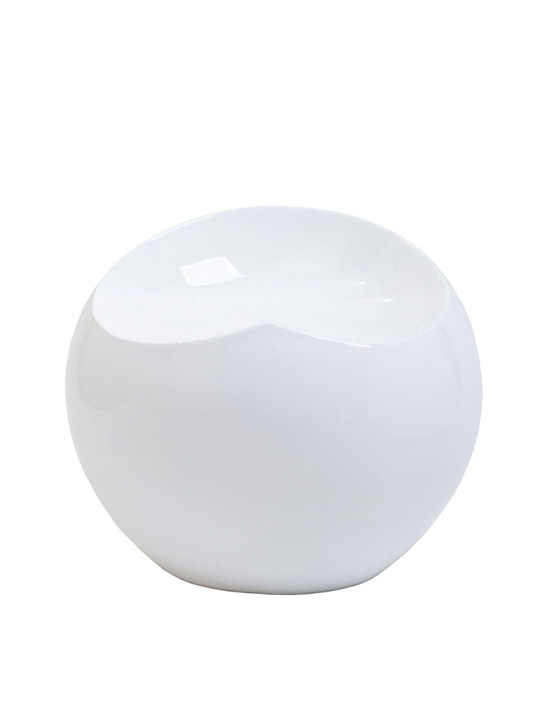 White Ball Stool