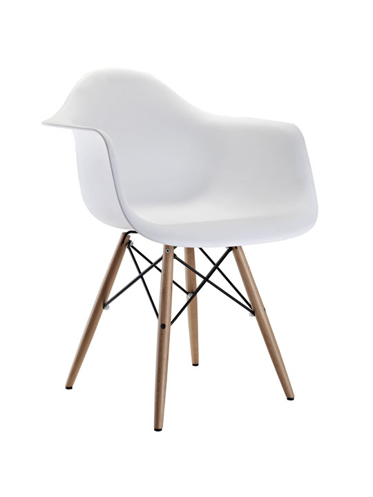 White Ceremony Wood Armchair