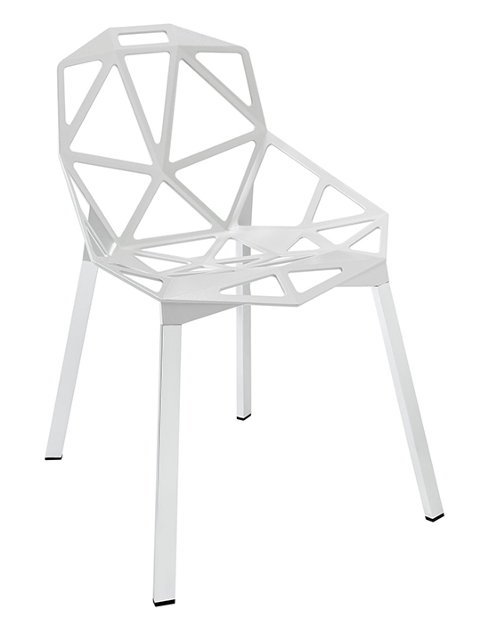 White Grid Chair