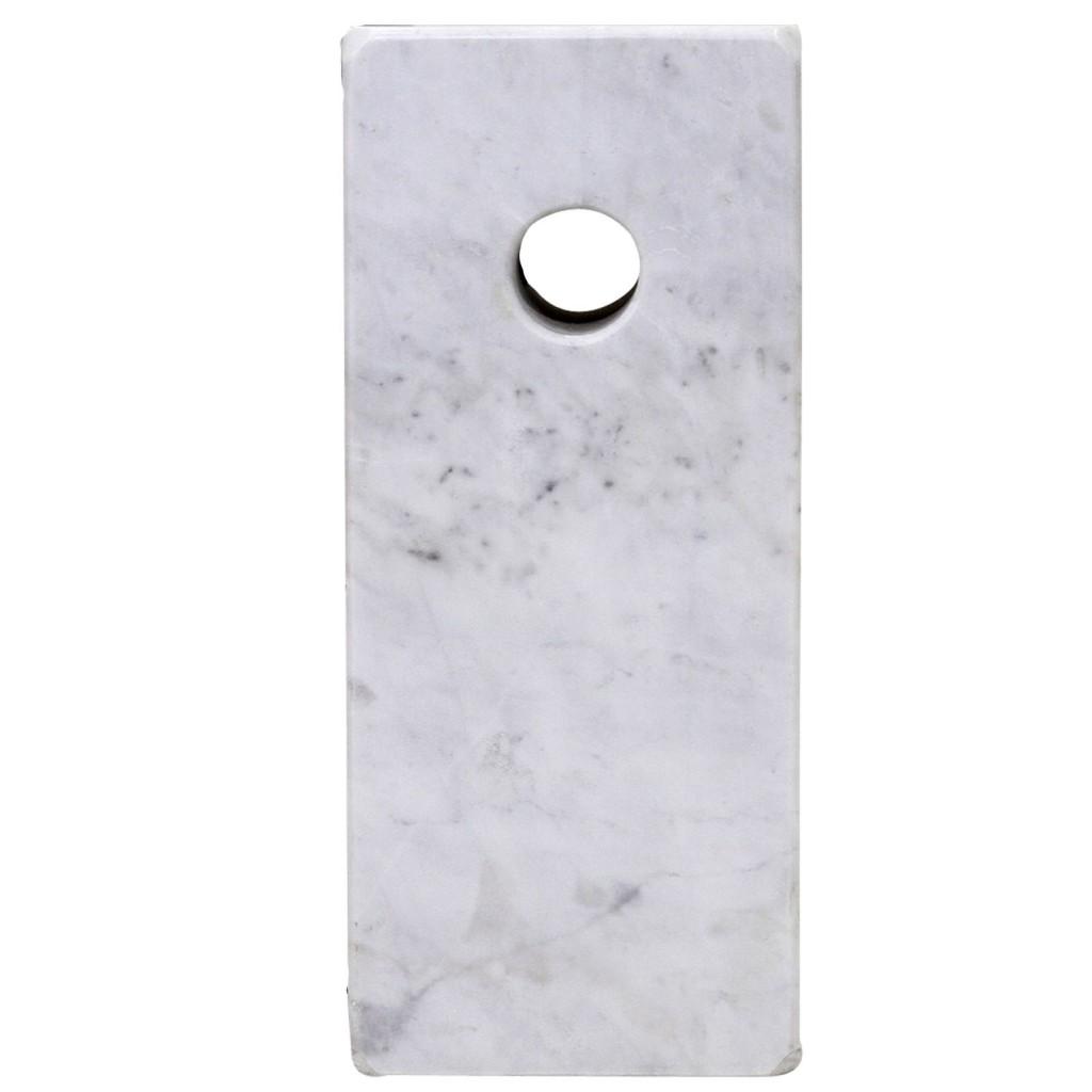 White Marble Modern Hunch Lamp