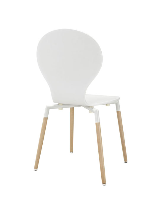 White Ombre Wood Chair 3