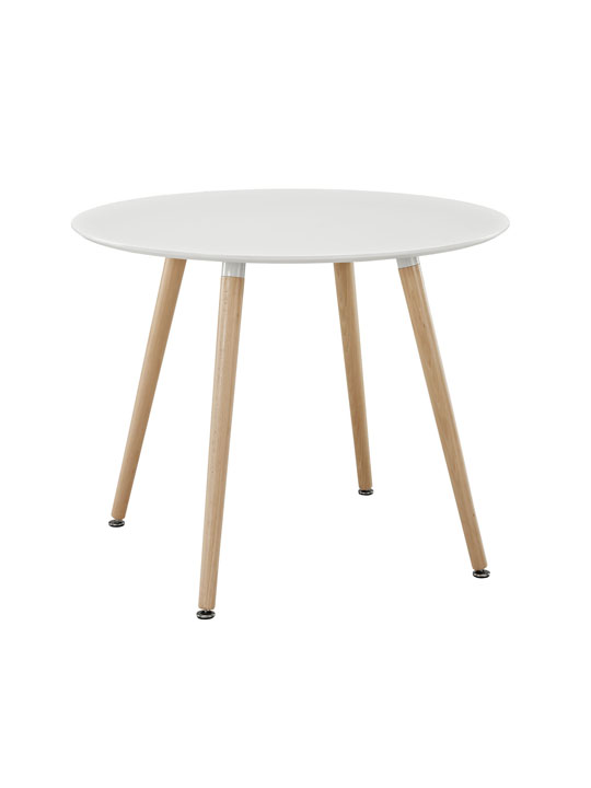 White Ombre Wood Circle Dining Table